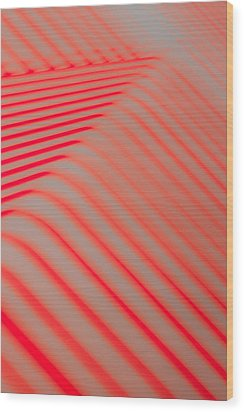 Red Lines Wood Print