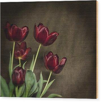 Red Love  Wood Print