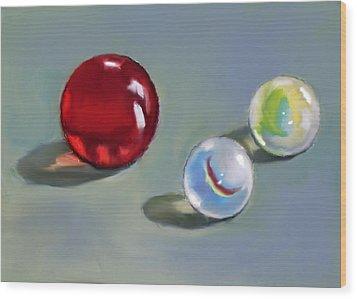 Red Marble And Friends Wood Print by Joyce Geleynse