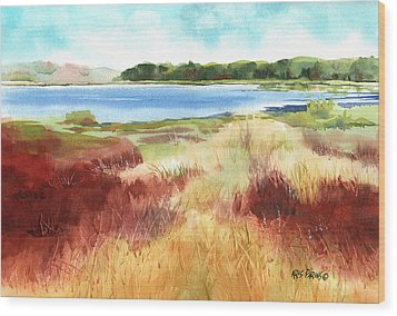 Red Marsh Wood Print