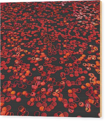 Red Matter/orgasmic Symbolism Wood Print by George Curington