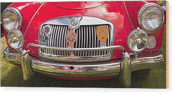 Red Mg Sports Car Canada Wood Print