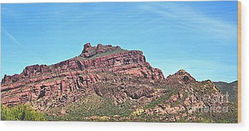 Wood Print featuring the photograph Red Mountain by Ruth Jolly