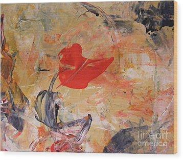 Red Wood Print by Nancy Kane Chapman