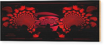 Wood Print featuring the photograph Red October by Robert Kernodle