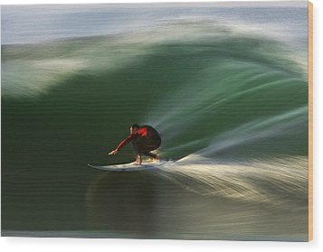 Red On Green  Mg_3785 Wood Print by David Orias