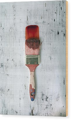 Red Paint Wood Print by Joana Kruse