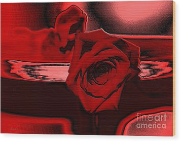 Red Passion. Rose Wood Print