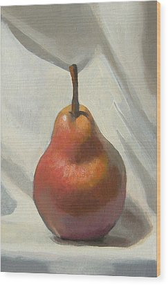 Red Pear Wood Print by Peter Orrock