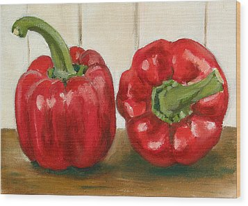 Red Pepper Wood Print by Sarah Lynch