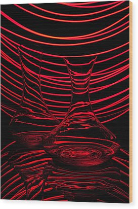 Red Rhythm II Wood Print by Davorin Mance