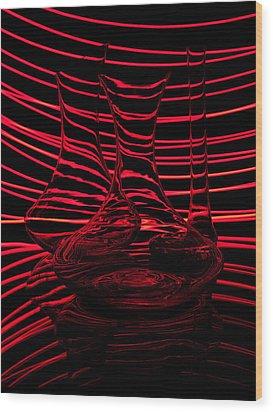 Red Rhythm IIi Wood Print by Davorin Mance