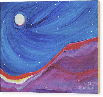 Wood Print featuring the painting Red Ridge By Jrr by First Star Art