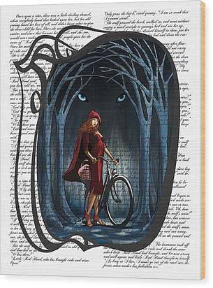 Red Riding Hood Wood Print by Sassan Filsoof