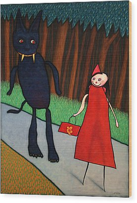 Red Ridinghood Wood Print by James W Johnson
