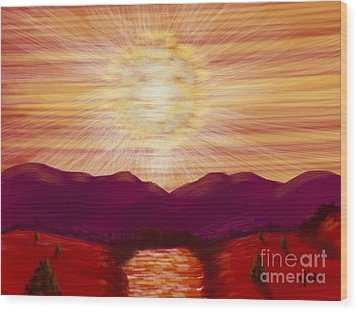 Red River Glory Wood Print