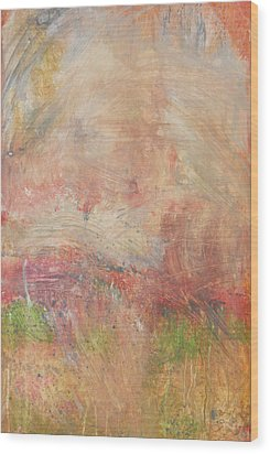 Wood Print featuring the painting Red Road In Sunlight by John Fish