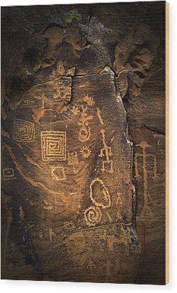 Red Rock Art Wood Print