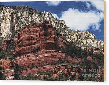 Red Rock At Oak Creek Wood Print by John Rizzuto