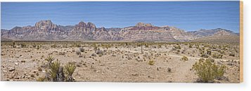 Red Rock Canyon Panorama Nevada. Wood Print by Gino Rigucci