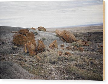 Red Rock Coulee II Wood Print by Leanna Lomanski