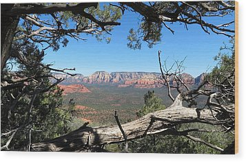 Red Rock Country From Doe Mountain Wood Print