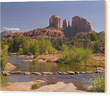 Red Rock Crossing Wood Print by Alex Cassels
