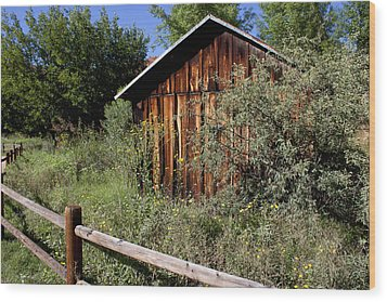 Red Rock Crossing House Wood Print