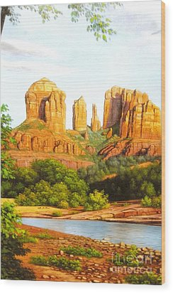 Red Rock Crossing In Sedona Wood Print