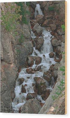 Red Rock Falls Wood Print
