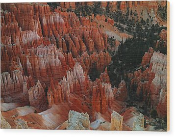 Red Rock Wood Print by Jeff Swan