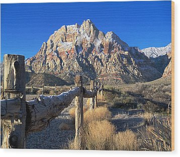 Wood Print featuring the photograph Red Rock Snow by Alan Socolik