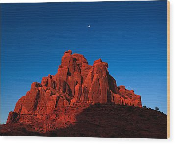Red Rock Sunrise Wood Print by Jonathan Gewirtz