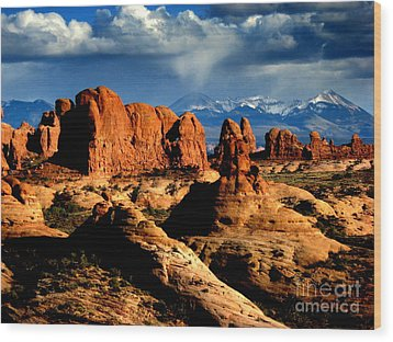 Wood Print featuring the photograph Red Rocks by Irina Hays