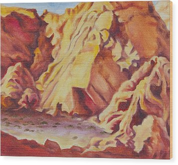 Red Rocks Wood Print by Michele Myers