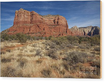 Red Rocks Of Sedona Wood Print