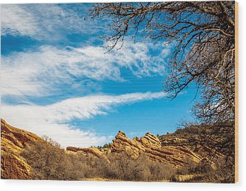 Red Rocks View 001 Wood Print by Todd Soderstrom