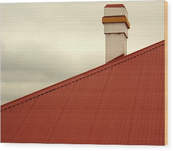 Red Roof Wood Print by Kaleidoscopik Photography