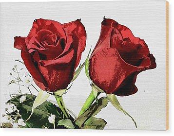 Red Roses 3 Wood Print
