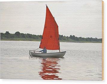 Red Sails Wood Print by Bob Sample