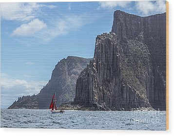 Wood Print featuring the photograph Red Sails by Jola Martysz