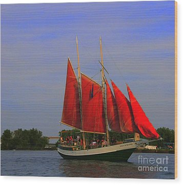 Red Sails Wood Print by Kathleen Struckle