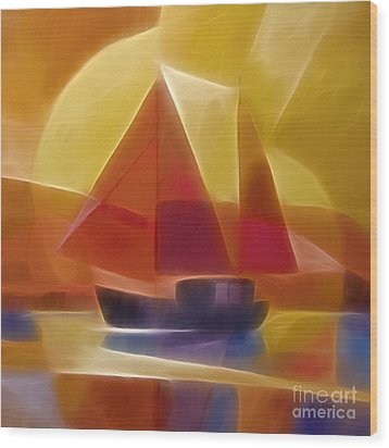 Red Sails Wood Print by Lutz Baar