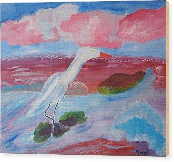 Red Seas Calling Wood Print by Meryl Goudey