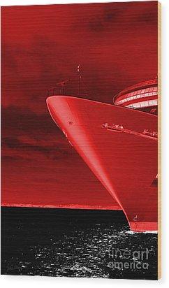 Red Sky At Morning ... Sailors Take Warning Wood Print by Luke Moore