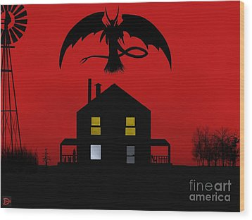 Red Sky At Night... Wood Print by Andy Heavens