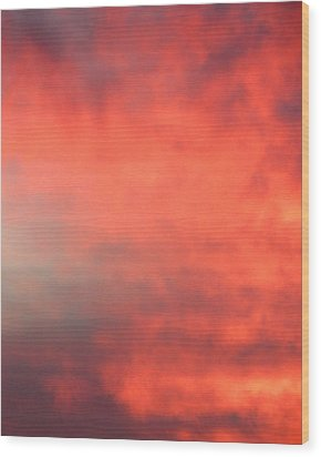 Red Sky At Night Wood Print by Laurel Powell