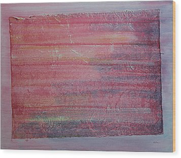 Red Sky At Night Sailors Delight Wood Print by Asha Carolyn Young