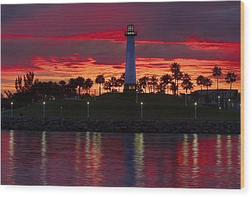 Red Skys At Night Denise Dube Photography Wood Print by Denise Dube