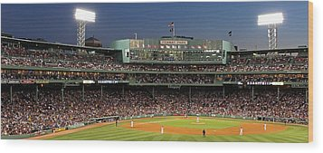 Red Sox And Fenway Park  Wood Print by Juergen Roth